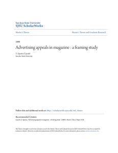 Advertising appeals in magazine : a framing study