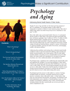 Psychology and Aging - American Psychological Association