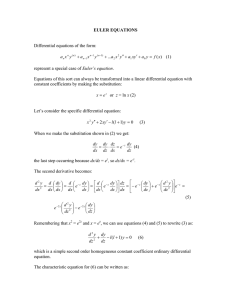 EULER EQUATIONS