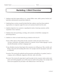 Marketing: A Brief Overview