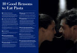 10 Good Reasons to Eat Pasta