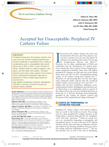 Accepted but Unacceptable: Peripheral IV Catheter Failure