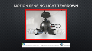 Motion Sensing Light Teardown