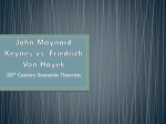 Keynes vs. Hayek Notes