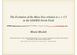 The Evolution of the Mass-Size relation to z = 3.5 in the GOODS