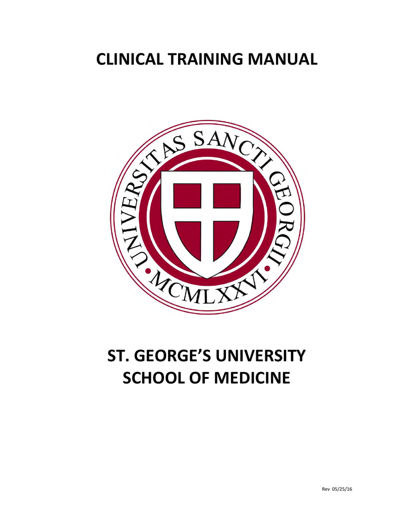 clinical training manual - St  George`s University