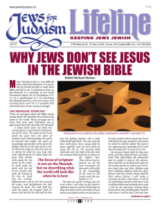 WHY JEWS DON`T SEE JESUS IN THE JEWISH BIBLE