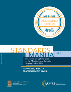 MBSAQIP Standards Manual - American College of Surgeons