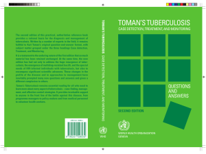 toman`s tuberculosis case detection, treatment and