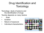 Drug Identification and Toxicology lecture