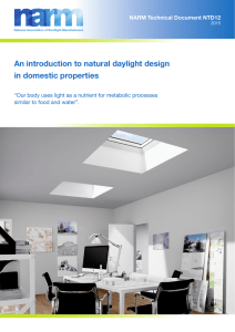 An introduction to natural daylight design in domestic properties