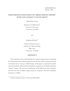 perturbative expansion of chern-simons theory with non