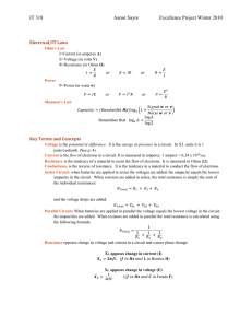 Equations and Key Concepts (Excellence Project)