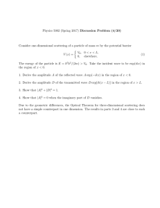 Physics 5002 (Spring 2017) Discussion Problem (4/20) Consider