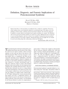 Definition, Diagnosis, and Forensic Implications of