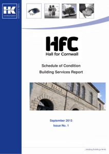 Condition Survey Schedule of Condition Building Services Report