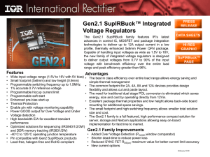 Gen2.1 SupIRBuck™ Integrated Voltage Regulators