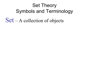 Set Theory Symbols and Terminology