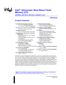 Intel Advanced+ Boot Block Flash Memory (C3)