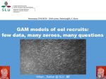 GAM for modelling the annual recruitment data of young eels