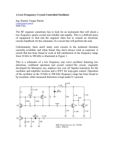 A Low-Frequency Crystal Controlled Oscillator