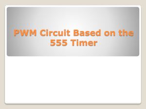 PWM Circuit Based on the 555 Timer