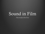 Sound in Film