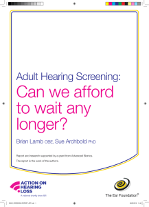 Adult Hearing Screening: