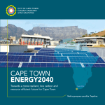 Cape Town Energy 2040 Vision - City of Cape Town`s Solar Water
