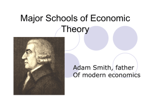 Major Schools of Economic Theory