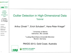 Outlier Detection in High-Dimensional Data - Tutorial