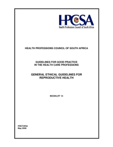 general ethical guidelines for reproductive health
