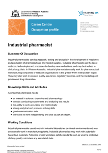 Industrial pharmacist