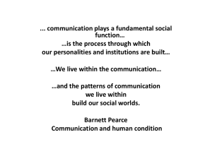 Communication: theory and practice EN