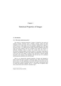 Statistical Properties of Images