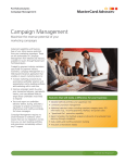 Campaign Management - Mastercard Advisors