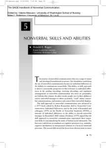 Nonverbal skills and abilities (Chapter5).