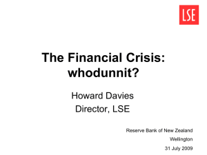 Howard Davies public lecture - Reserve Bank of New Zealand