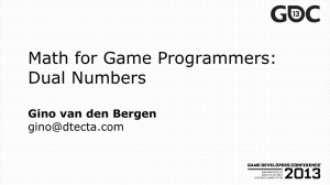 Math for Game Programmers: Dual Numbers