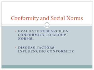 Conformity and Social Norms