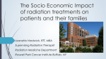The Socio Economic Impact of radiation treatments on patients and