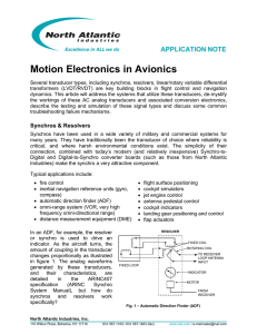 Motion Electronics in Avionics