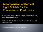 A Comparison of Corneal Light Shields for the Prevention of