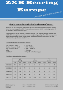 Quality comparison to leading bearing manufacturers