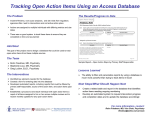 Tracking Open Action Items Using an Access Database