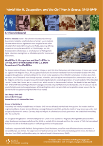 World War II, Occupation, and the Civil War in Greece, 1940-1949