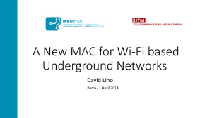 A new MAC for Wi-Fi based Underground Networks