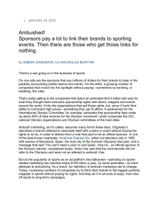 Ambushed (Sponsorship Guerilla Mktg)
