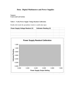 Data: Digital Multimeters and Power Supplies