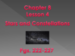 Chapter 8 Lesson 4 Stars and Constellations